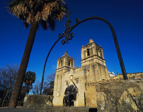 Mission Concepción, San Antonio Missions National Historic Park, San Antonio,Texas, USA, January 2006