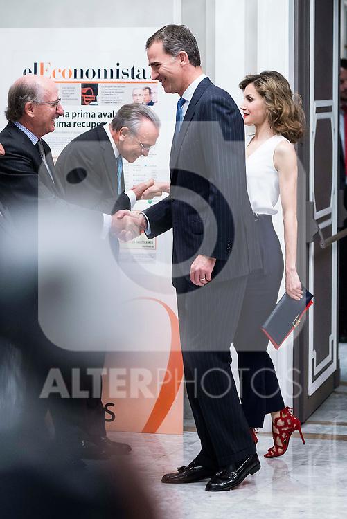 King Felipe VI and Queen Letizia during lunch commemorative twentieth anniversary of El Economista at Hotel VillaMagna in Madrid. June 08, 2016. (ALTERPHOTOS/BorjaB.Hojas)