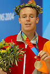 DonovanTidesley from Vancouver Bc, performing for silver medal in Athènes<br /> (Benoit Pelosse photographe,19 sept 2004)