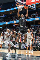 WASHINGTON, DC - FEBRUARY 19: Kalif Young #13 of Providence up for a score during a game between Providence and Georgetown at Capital One Arena on February 19, 2020 in Washington, DC.