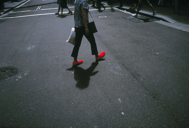 © John Angerson <br /> Red shoes Sydney Australia<br /> ** this image has NOT be altered in any way.