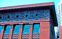 Louis Sullivan: Wainwright Bldg., St. Louis. Cornice, renovated and restored.  Photo '88.