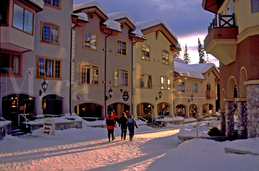 The Sun Peaks Village ski resort. British Columbia (BC), Canada.