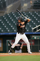 Jupiter Hammerheads JJ Bleday at bat during a Florida State League game against the Lakeland Flying Tigers on August 12, 2019 at Roger Dean Chevrolet Stadium in Jupiter, Florida.  Jupiter defeated Lakeland 9-3.  (Mike Janes/Four Seam Images)