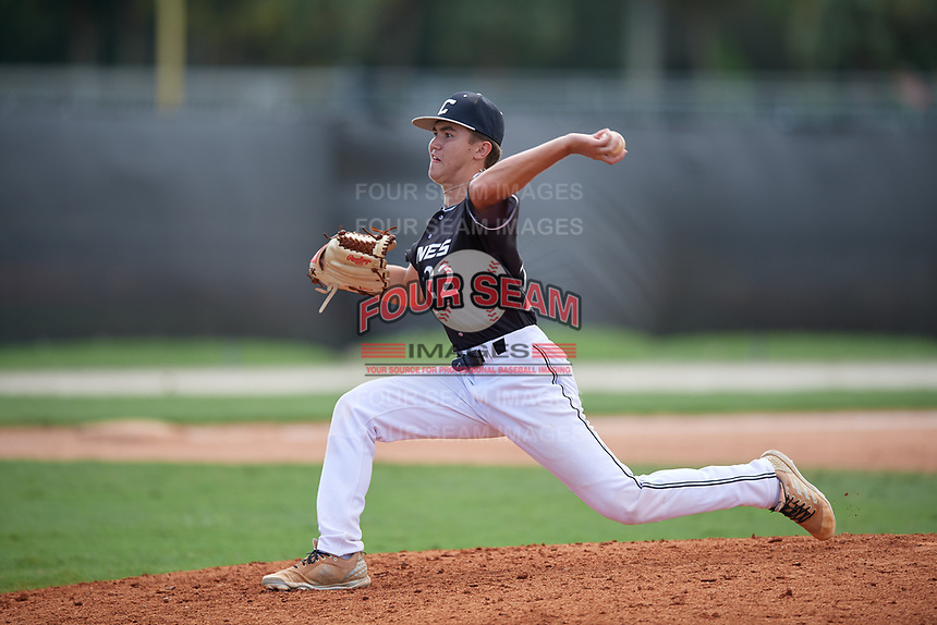 Colton Cosper (22) during the WWBA World Championship at the Roger Dean Complex on October 13, 2019 in Jupiter, Florida.  Colton Cosper attends Carrollton High School in Carrollton, GA and is committed to Mercer.  (Mike Janes/Four Seam Images)