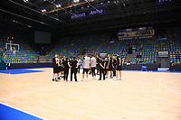 Besprechung der Nationalmannschaft in der Ballsporthalle - 20.02.2018: Deutsche Nationalmannschaft bereitet sich auf das WM-Quali-Spiel gegen Serbien vor, Fraport Arena Frankfurt