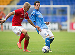 St Johnstone v York City...19.07.14  <br /> Dylan Easton and Lindon Meikle<br /> Picture by Graeme Hart.<br /> Copyright Perthshire Picture Agency<br /> Tel: 01738 623350  Mobile: 07990 594431