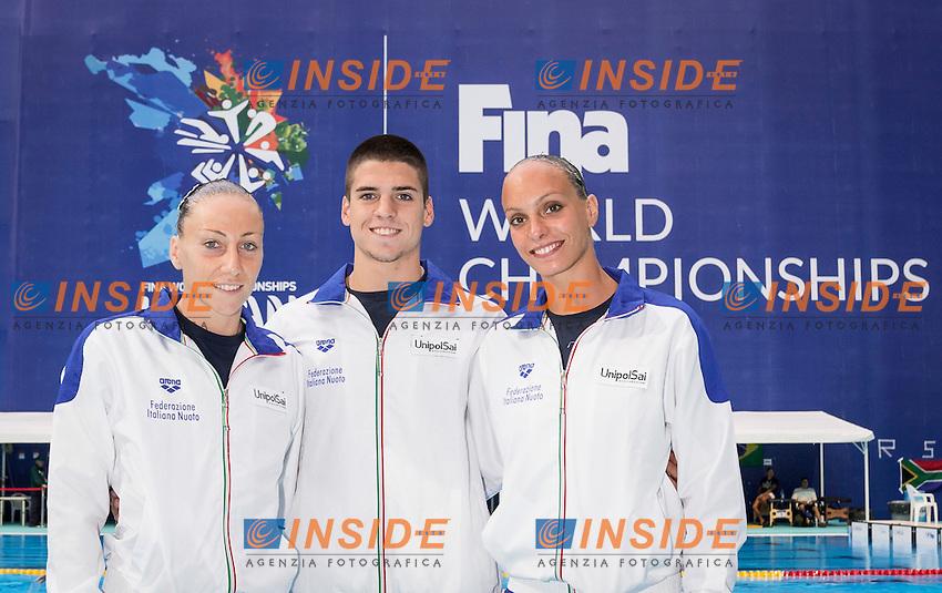 Mix Duet Italy<br /> FLAMINI Manila<br /> MINISINI Giorgio<br /> PERRUPATO Mariangela<br /> Day9 01/87/2015<br /> XVI FINA World Championships Aquatics<br /> Synchro<br /> Kazan Tatarstan RUS July 24 - Aug. 9 2015 <br /> Photo Giorgio Scala/Deepbluemedia/Insidefoto