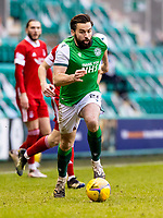 6th February 2021; Easter Road, Edinburgh, Scotland; Scottish Premiership Football, Hibernian versus Aberdeen; Darren McGregor of Hibernian