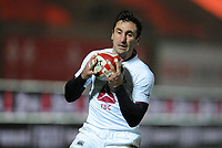 Georgia's Sandro Todua catches the high ball <br /> <br /> Photographer Ian Cook/CameraSport<br /> <br /> 2020 Autumn Nations Cup - Wales v Georgia - Saturday 21st November 2020 - Parc y Scarlets - Llanelli - Wales<br /> <br /> World Copyright © 2020 CameraSport. All rights reserved. 43 Linden Ave. Countesthorpe. Leicester. England. LE8 5PG - Tel: +44 (0) 116 277 4147 - admin@camerasport.com - www.camerasport.com