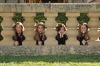 1 October 2007: Melissa Knight, Poppy Carlig, Courtenay Stewart, and Sara Lowe during picture day in Stanford, CA.