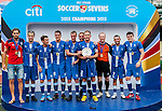 Leicester City vs Hong Kong Footbal Club during their Main Plate Final as part of day three of the HKFC Citibank Soccer Sevens 2015 on May 31, 2015 at the Hong Kong Football Club in Hong Kong, China. Photo by Xaume Olleros / Power Sport Images
