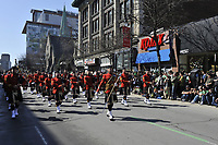 March 18,2012 - Montreal (Quebec) CANADA - Montreal's Saint-Patrick Day Parade on Sainte-Catherine street.