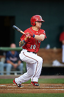 Harrisburg Senators outfielder Drew Vettleson (20) at bat during a game against the New Hampshire Fisher Cats on July 21, 2015 at Metro Bank Park in Harrisburg, Pennsylvania.  New Hampshire defeated Harrisburg 7-1.  (Mike Janes/Four Seam Images)