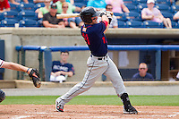Jason Martinson #11 of the Hagerstown Suns follows through on his swing against the Rome Braves at State Mutual Stadium on May 1, 2011 in Rome, Georgia.   Photo by Brian Westerholt / Four Seam Images