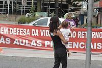 Campinas (SP), 11/02/2021 - Ato professores - Ato de professores organizado pela Apeoesp e sindicatos nesta quarta-feira (11) no Largo do Rosario, na cidade de Campinas, contra a volta as aulas presenciais.