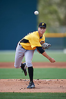 Pittsburgh Pirates pitcher Max Kranick (80) during an Instructional League Intrasquad Black & Gold game on September 28, 2016 at Pirate City in Bradenton, Florida.  (Mike Janes/Four Seam Images)