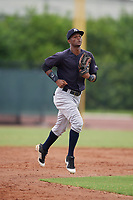GCL Yankees East Sandy Mota (11) during a Gulf Coast League game against the GCL Phillies West on August 3, 2019 at the Carpenter Complex in Clearwater, Florida.  The GCL Phillies West defeated the GCL Yankees East 15-7 in a completion of a game that was originally started on July 26, 2019.  (Mike Janes/Four Seam Images)