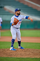 Antonio Hernandez (27) of the Ogden Raptors throws to first base against the Grand Junction Rockies at Lindquist Field on September 9, 2019 in Ogden, Utah. The Raptors defeated the Rockies 6-5. (Stephen Smith/Four Seam Images)