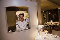 Europe/France/Bretagne/35/Ille et Vilaine/ Dinard:  Didier Méril dans son  restaurant Didier Méril [Non destiné à un usage publicitaire - Not intended for an advertising use]