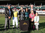 22 October. Great Hot and jockey Chantal Sutherlan win the 13th running of the Lexus Raven Run GRII $250,000 at Keeneland racecourse.