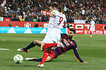 FC Barcelona's Gerard Pique and Sevilla CF's Kevin Gameiro during Spanish Kings Cup Final match. May 22,2016. (ALTERPHOTOS/Rodrigo Jimenez)