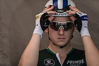 Aimé De Gendt (BEL/Sport Vlaanderen Baloise) ) awaiting his start. <br /> <br /> Baloise Belgium Tour 2018<br /> Stage 3: ITT Bornem - Bornem (10.6km)