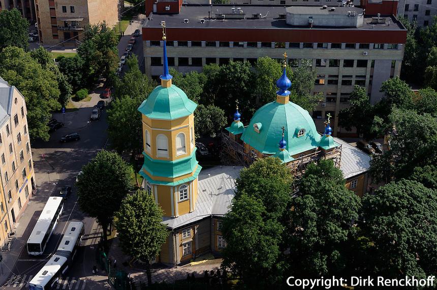 Orthodoxe Kirche im Moskauer Viertel in Riga, Lettland, Europa, Unesco-Weltkulturerbe