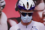 Chris Froome (GBR) Israel Start-Up Nation at sign on before the start of Stage 6 of the 2021 UAE Tour running 165km from Deira Island to Palm Jumeirah, Dubai, UAE. 26th February 2021.  <br /> Picture: Eoin Clarke   Cyclefile<br /> <br /> All photos usage must carry mandatory copyright credit (© Cyclefile   Eoin Clarke)