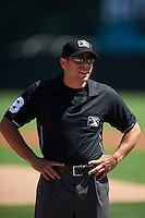 Umpire Mike Wiseman before a game between the Reading Fightin Phils and Bowie Baysox on July 22, 2015 at Prince George's Stadium in Bowie, Maryland.  Bowie defeated Reading 6-4.  (Mike Janes/Four Seam Images)
