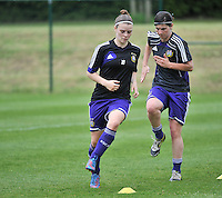 RSC Anderlecht Dames - FC Twente : Lieselot De Kegel.foto DAVID CATRY / Nikonpro.be