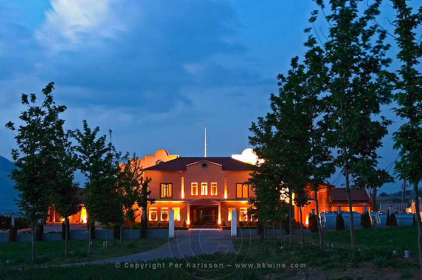 Winery building. Alpha Estate Winery, Amyndeon, Macedonia, Greece