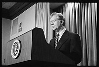 1980 Apr. 7. -<br /> President Jimmy Carter announces new sanctions against Iran in retaliation for taking U.S. hostages]