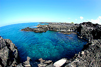 Coastal swimming hole near Pinetrees surf location and the O'oma project The Big Island of Hawaii, Pacific Ocean