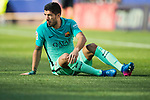 Luis Suarez of FC Barcelona sits on the pitch during their La Liga match between Atletico de Madrid and FC Barcelona at the Santiago Bernabeu Stadium on 26 February 2017 in Madrid, Spain. Photo by Diego Gonzalez Souto / Power Sport Images