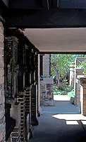 F.L. Wright: Studio. Entrance, Chicago Ave.  Photo '76.