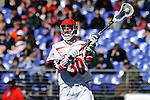 Face-Off Classic: Attackmen Matt Donovan #30 of the Cornell Bears during the Virginia v Cornell mens lacrosse game at M&T Bank Stadium on March 10, 2012 in Baltimore, Maryland. (Ryan Lasek/Eclipse Sportswire)