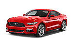 2017 Ford Mustang GT Premium 2 Door Coupe angular front stock photos of front three quarter view