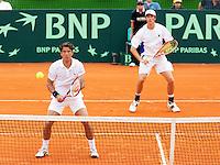 7-3-09,Argentina, Buenos Aires, Daviscup  Argentina-Netherlands,  De dubbel Jesse Huta Galung en Rogier Wassen(r)