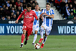 CD Leganes's Ruben Perez and Real Madrid's Francisco Alarcon 'Isco' during La Liga match between CD Leganes and Real Madrid at Butarque Stadium in Leganes, Spain. April 15, 2019. (ALTERPHOTOS/A. Perez Meca)