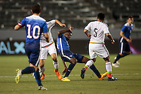 Carson, CA - Wednesday, April 22, 2015: The U.S. Men's U-23s National soccer team defeated the Mexican U-23s 3-0 in an International friendly at StubHub Center.