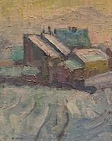ActiveMuseum_0000084.jpg / Village in Winter - Rihard Jakopic (around 1900) - <br />06/06/2013  -   / 20th century<br />Active Museum / Le Pictorium