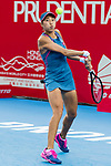 Zhang Shuai of China competes against Daria Gavrilova of Australia during the singles quarter final match at the WTA Prudential Hong Kong Tennis Open 2018 at the Victoria Park Tennis Stadium on 12 October 2018 in Hong Kong, Hong Kong.