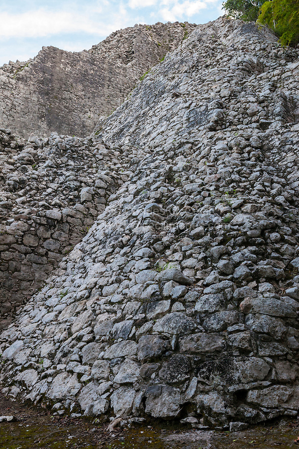 Nohoch Mul, the main pyramid at the Coba Ruins, near Playa del Carmen, Yucatan, Mexico.