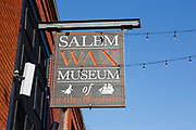 Salem Wax Museum in Salem, Massachusetts during the winter months.