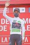 Egan Bernal (COL) Ineos Grenadiers retains the young riders White Jersey at the end of Stage 6 of La Vuelta d'Espana 2021, running 158.3km from Requena to Alto de la Montaña Cullera, Spain. 19th August 2021.    <br /> Picture: Luis Angel Gomez/Photogomezsport   Cyclefile<br /> <br /> All photos usage must carry mandatory copyright credit (© Cyclefile   Luis Angel Gomez/Photogomezsport)