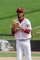 Wisconsin Timber Rattlers relief pitcher Cristian Sierra (31) on the mound during a game against the Cedar Rapids Kernels on September 8, 2021 at Neuroscience Group Field at Fox Cities Stadium in Grand Chute, Wisconsin.  (Brad Krause/Four Seam Images)