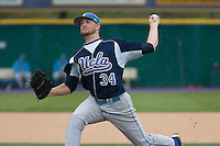 April 27, 2008: UCLA's Brendan Lafferty delivers a pitch during his relief outing against the University of Washington at Husky Ballpark in Seattle, Washington.