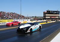 Jul 30, 2017; Sonoma, CA, USA; NHRA pro stock driver Tanner Gray (near) races alongside Drew Skillman during the Sonoma Nationals at Sonoma Raceway. Mandatory Credit: Mark J. Rebilas-USA TODAY Sports