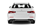 Straight rear view of 2021 Mercedes Benz E-Class-Sedan E350 4 Door Sedan Rear View  stock images